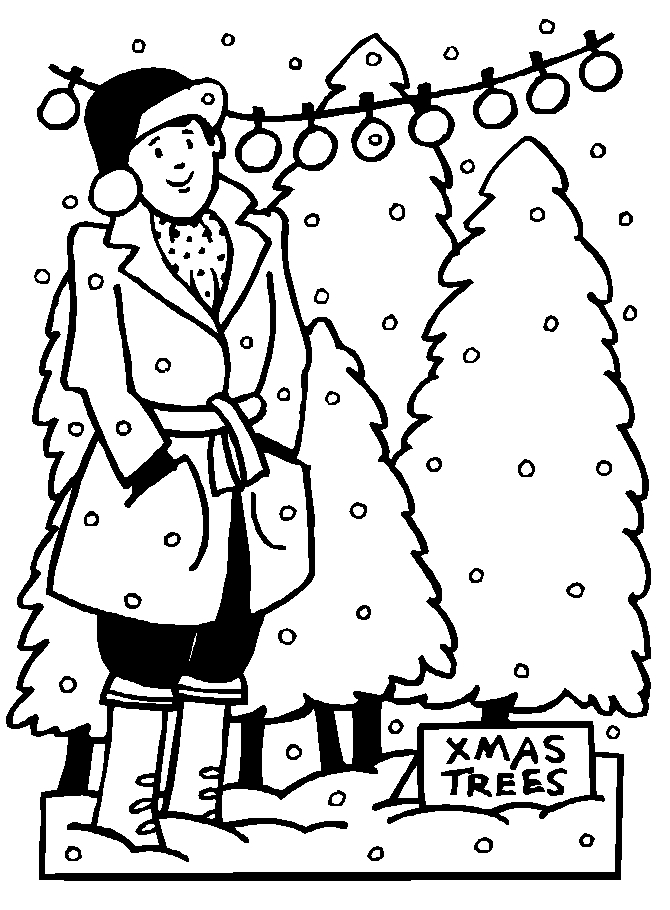 dltk coloring pages - advent calendar day 4 christmas