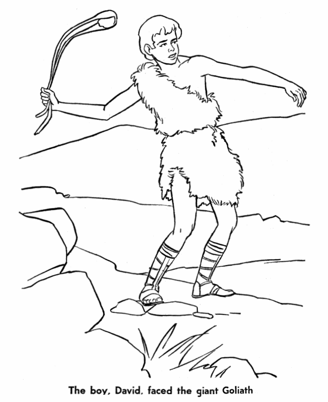 dltk coloring pages - david bible coloring pages