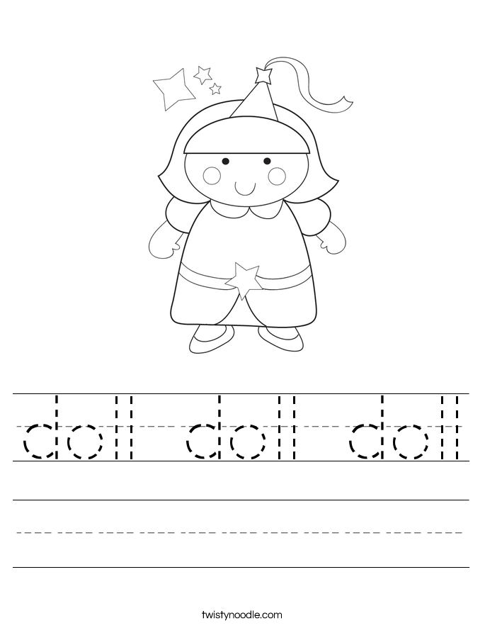 doll coloring pages - doll doll doll 2 worksheet