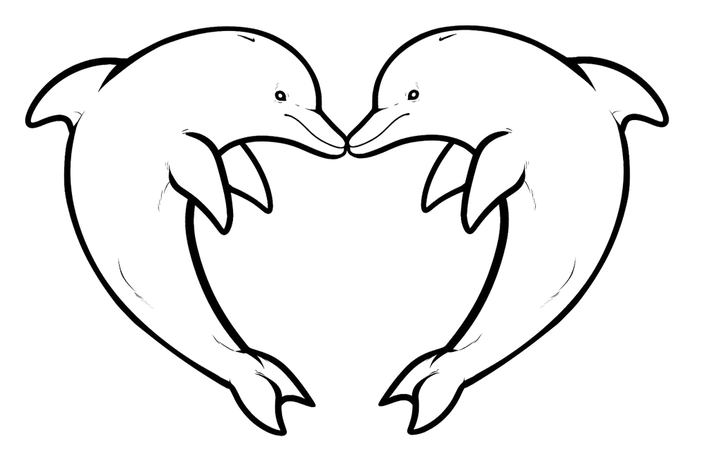 dolphin coloring pages - coloring pages of dolphins