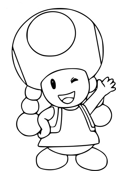 donkey kong coloring pages - coloriage toadette mario