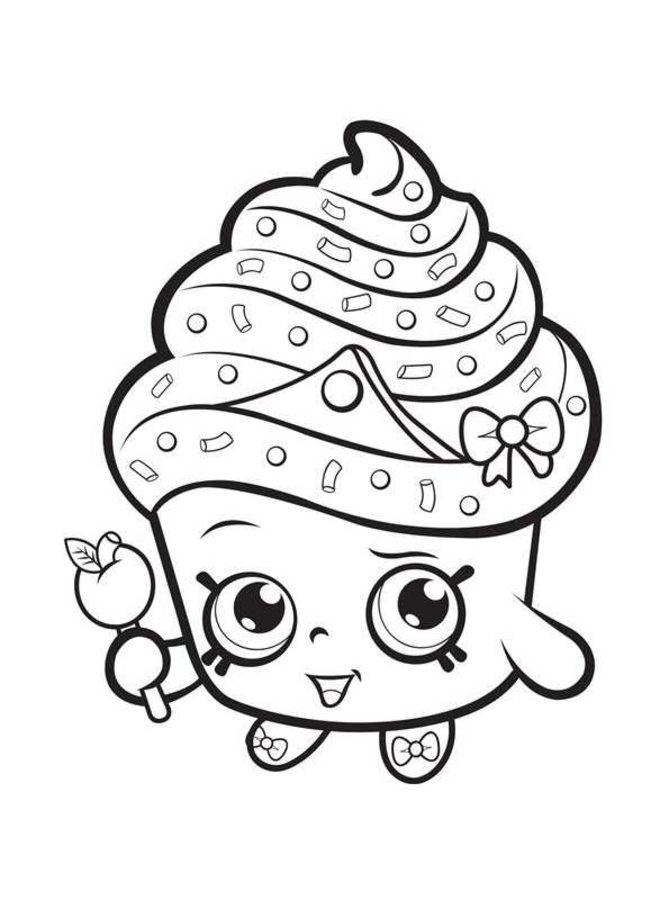 donut coloring page - shopkins 4