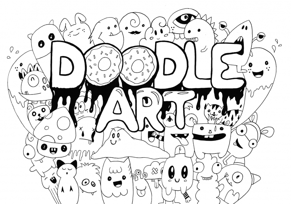 doodle coloring pages - 4250