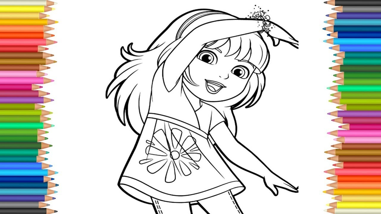 dora and friends coloring pages - watch v=5AoiLe5tfUg