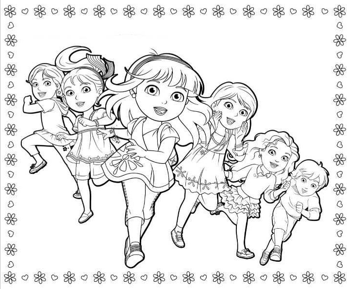 dora and friends coloring pages - dora and friends coloring pages