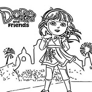 dora and friends coloring pages - dora friends coloring pages