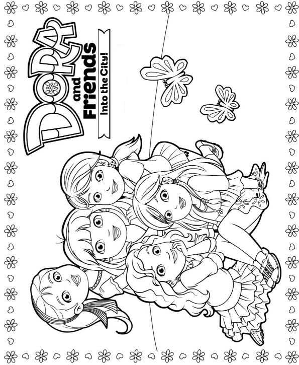 dora and friends coloring pages - dora and friends