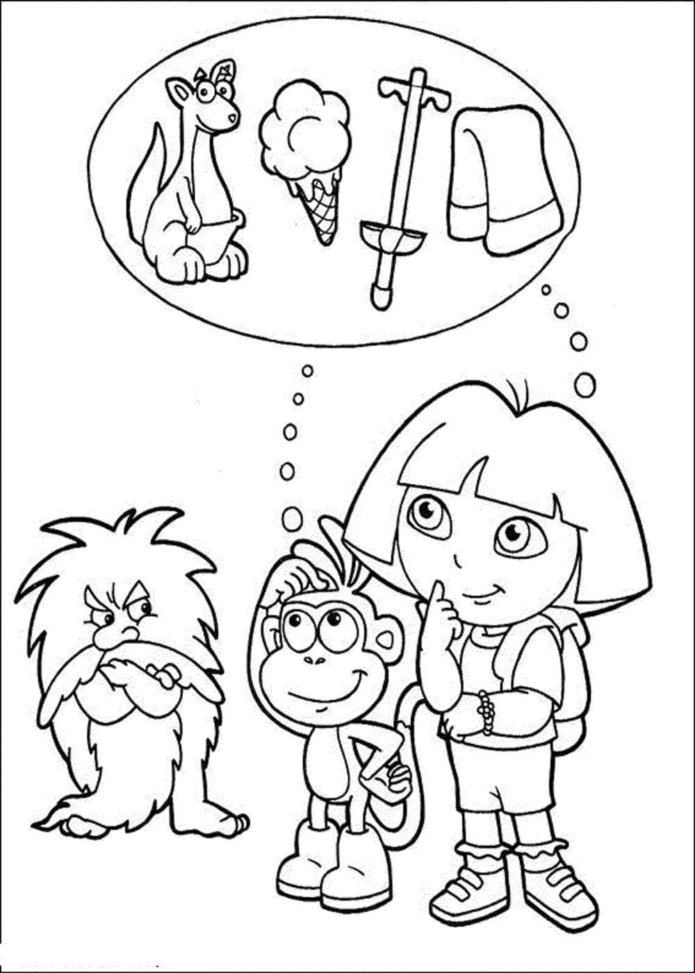dora and friends coloring pages - dora coloring pages learn new things
