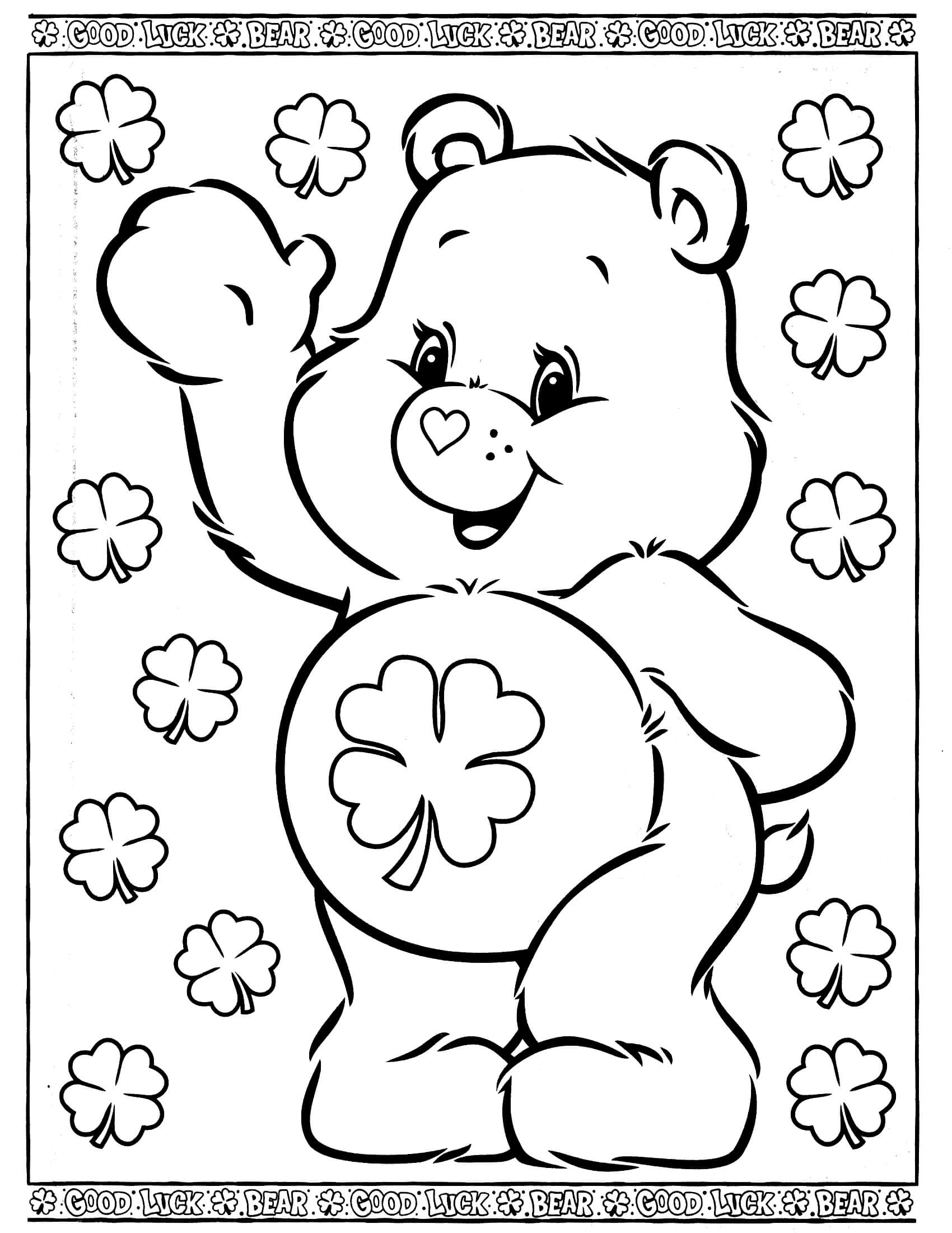dora coloring pages - care bears coloring page 29