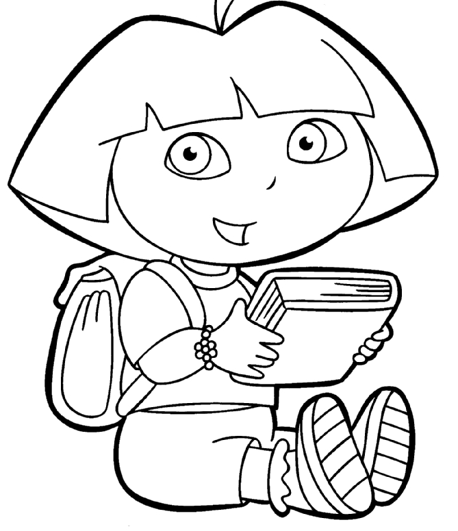 dora the explorer coloring pages - dora the explorer christmas coloring pages sketch templates