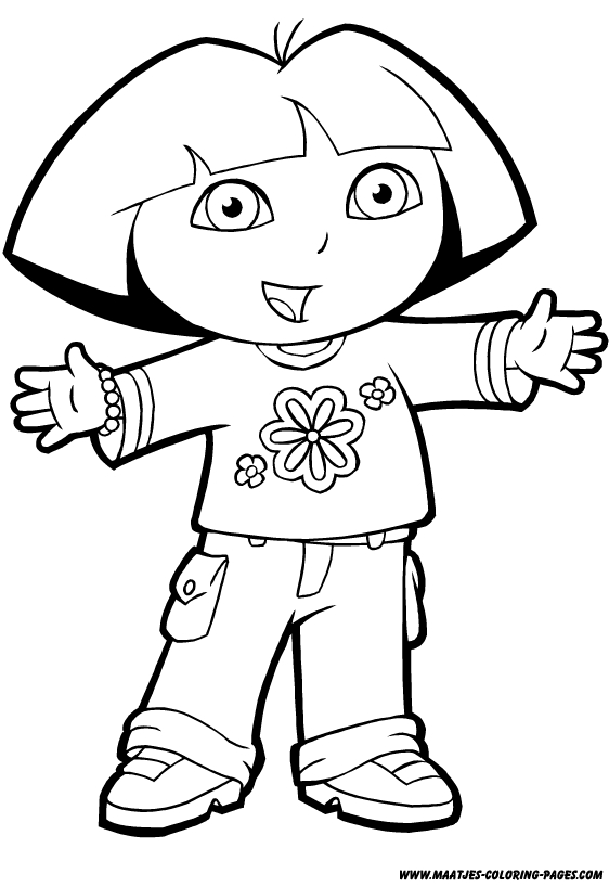 24 Dora The Explorer Coloring Pages Collections Free Coloring
