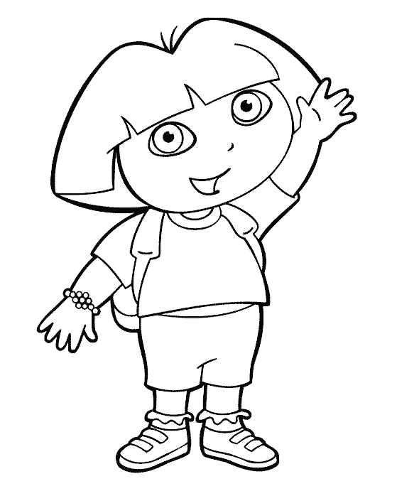 24 Dora The Explorer Coloring Pages Collections Free Coloring Pages
