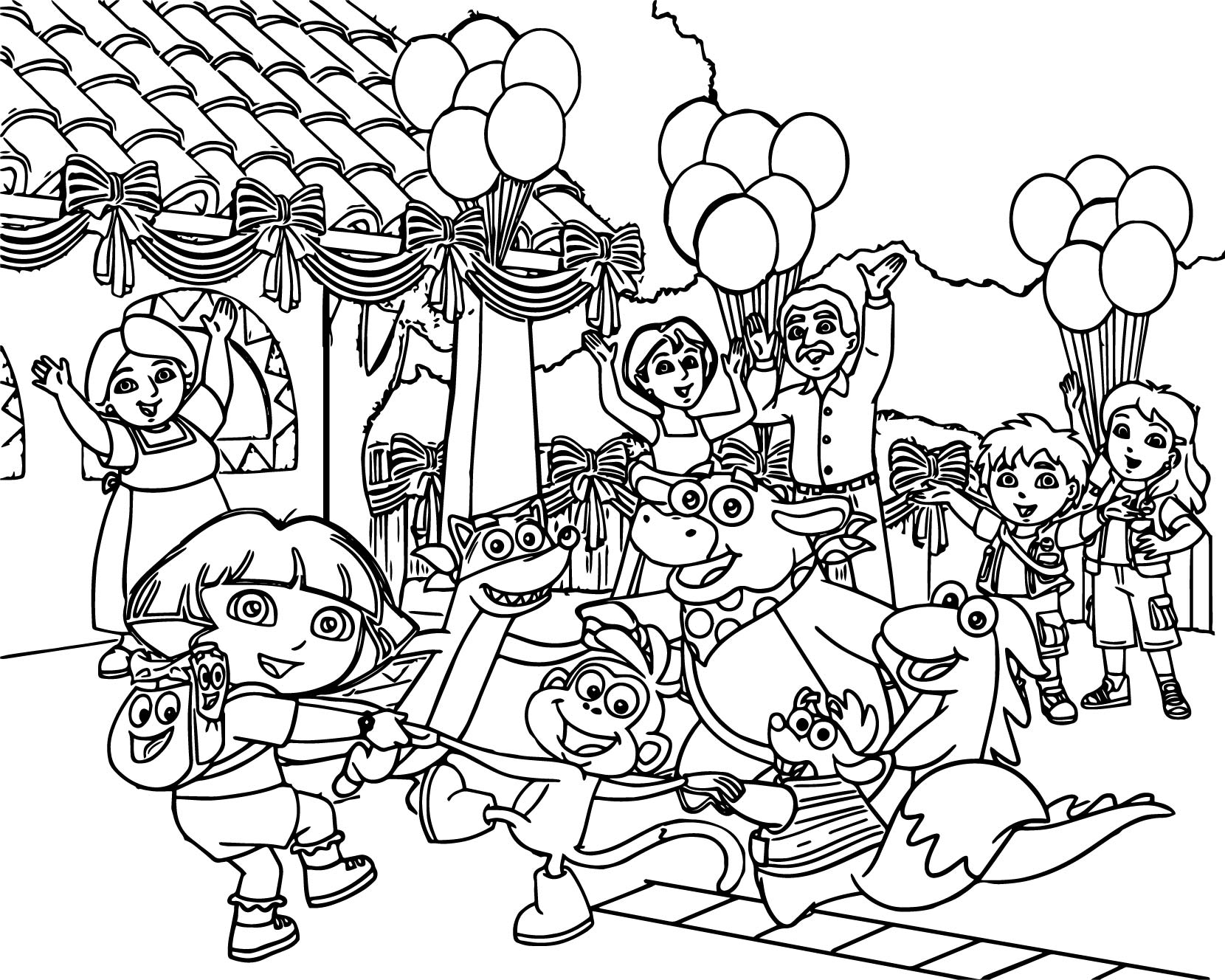 24 Dora the Explorer Coloring Pages Collections | FREE COLORING ...