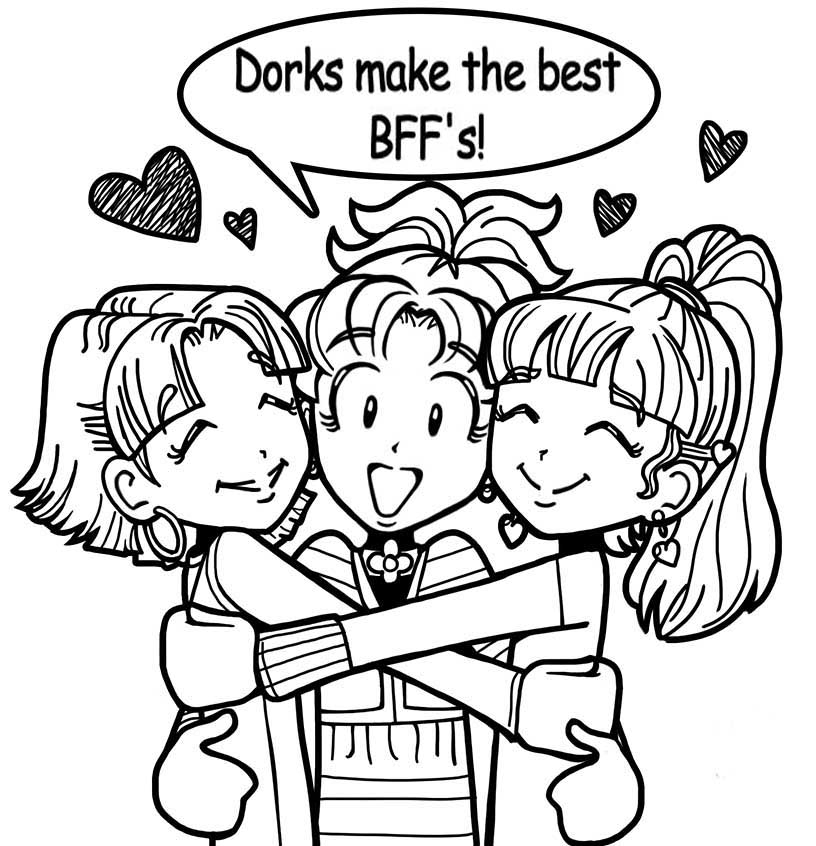 dork diaries coloring pages - dork diaries printable coloring pages
