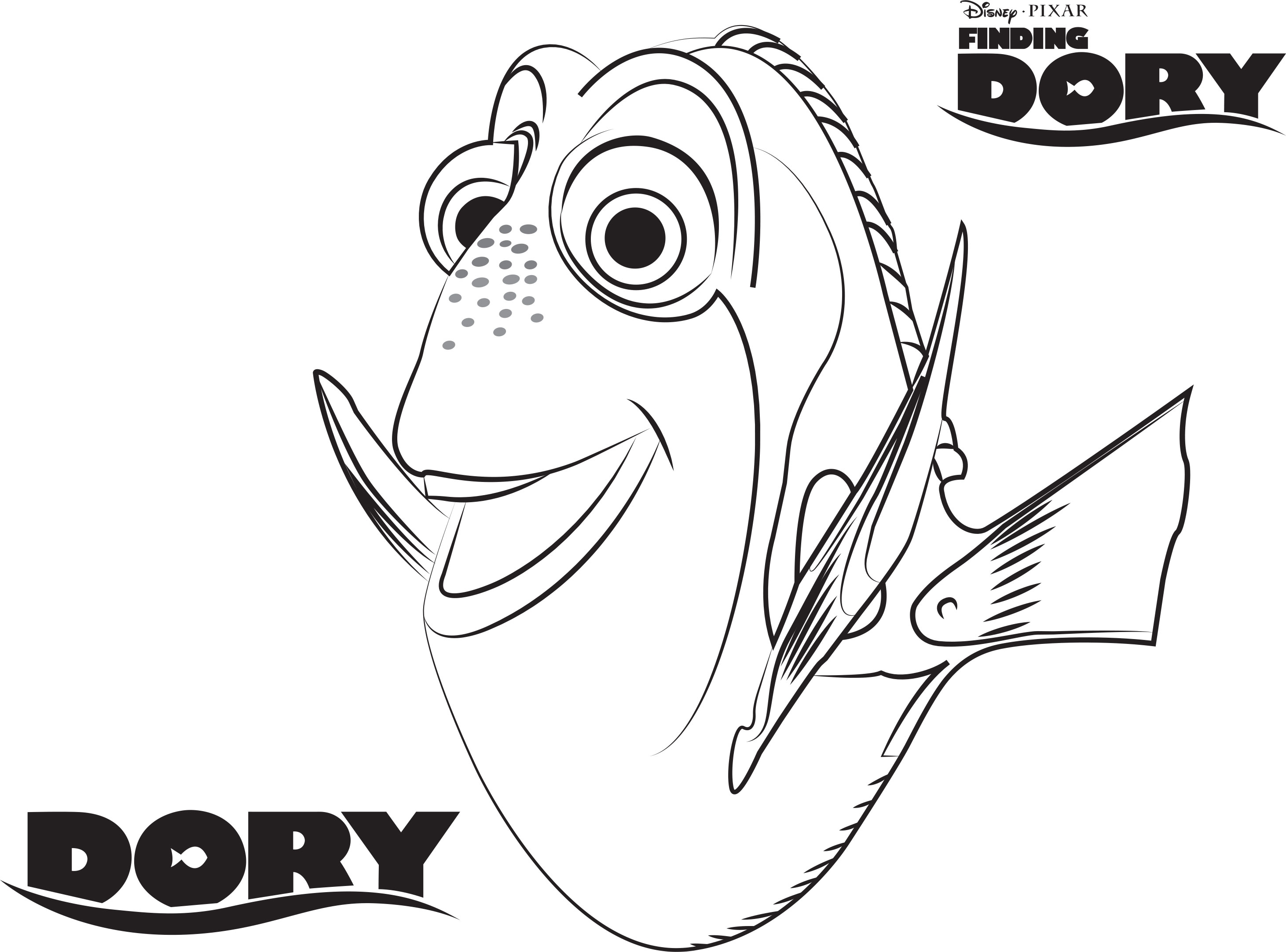Dory Coloring Pages - Dory Coloring Pages Best Coloring Pages for Kids