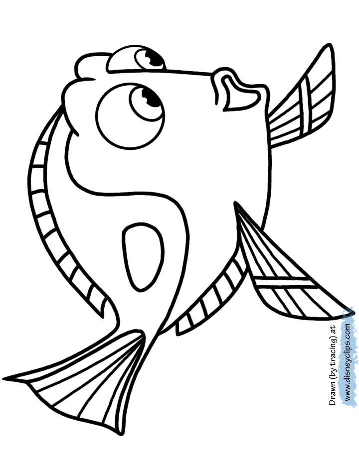 dory coloring pages - finding dory coloring