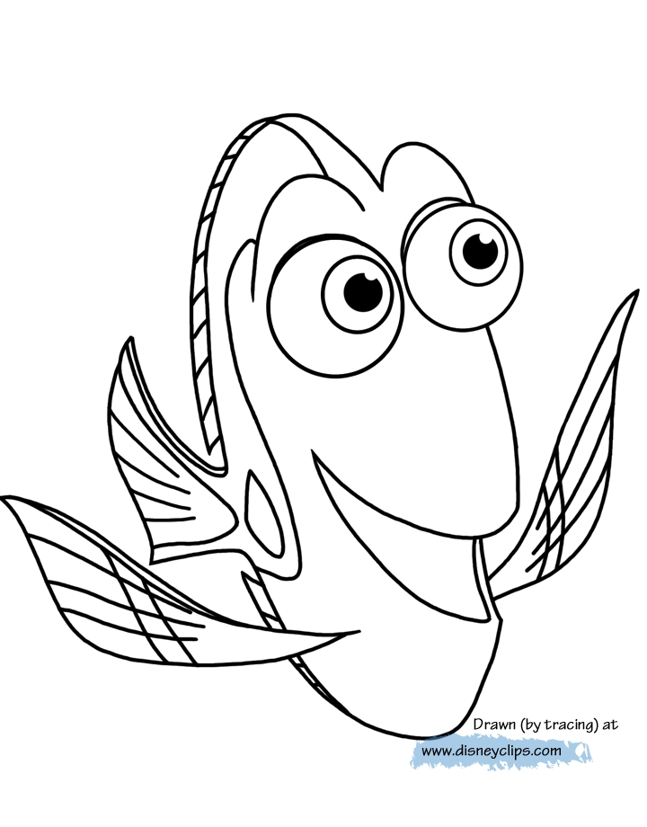 dory coloring pages - finding dory