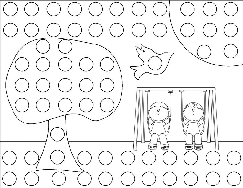 dot coloring pages - spring do a dot coloring page