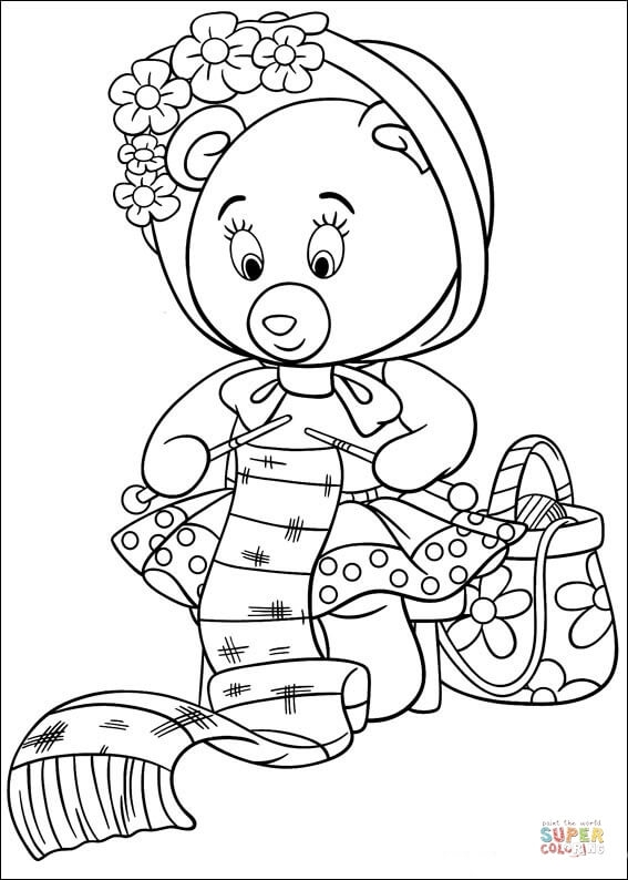 dot to dot coloring pages - tessie bear embroiders