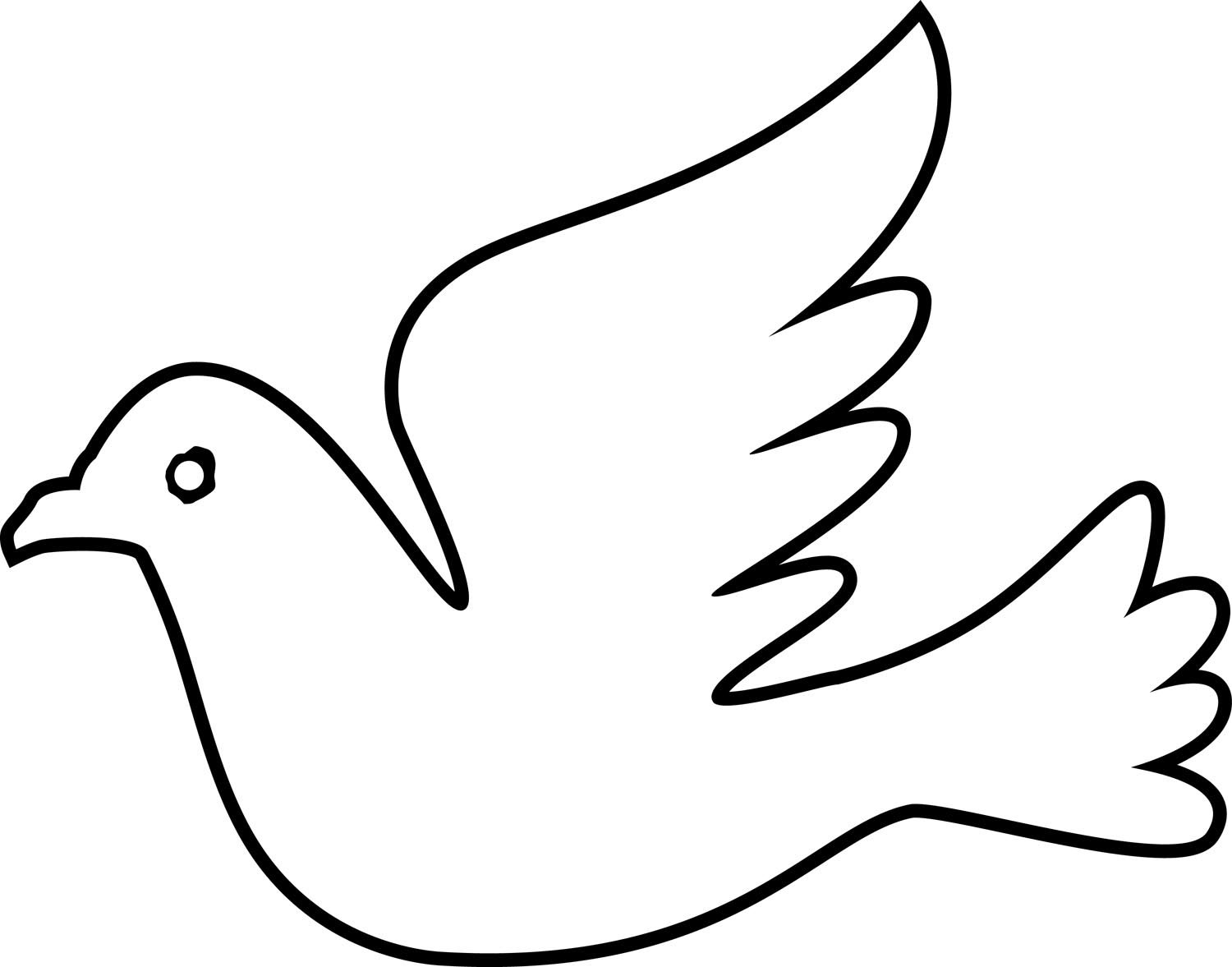 Dove Coloring Page - Coloring Sheet Dove Free Image