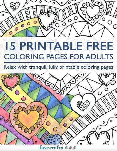 Downloadable Adult Coloring Pages - 6 Free Printable Coloring Books Pdf Downloads