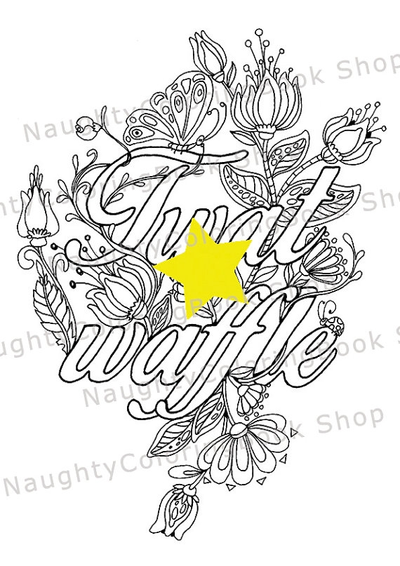 downloadable adult coloring pages - cuss word coloring page adult coloring