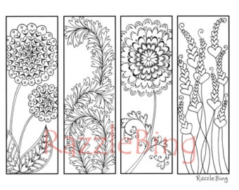 downloadable adult coloring pages - diy bookmark printable coloring page
