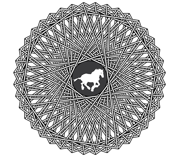 downloadable adult coloring pages - horse coloring pages