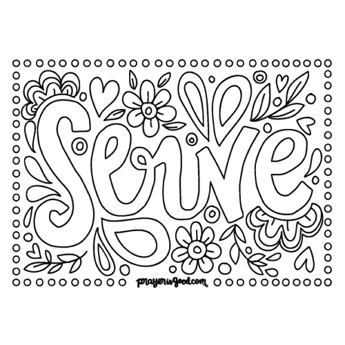 downloadable coloring pages - serve able coloring page