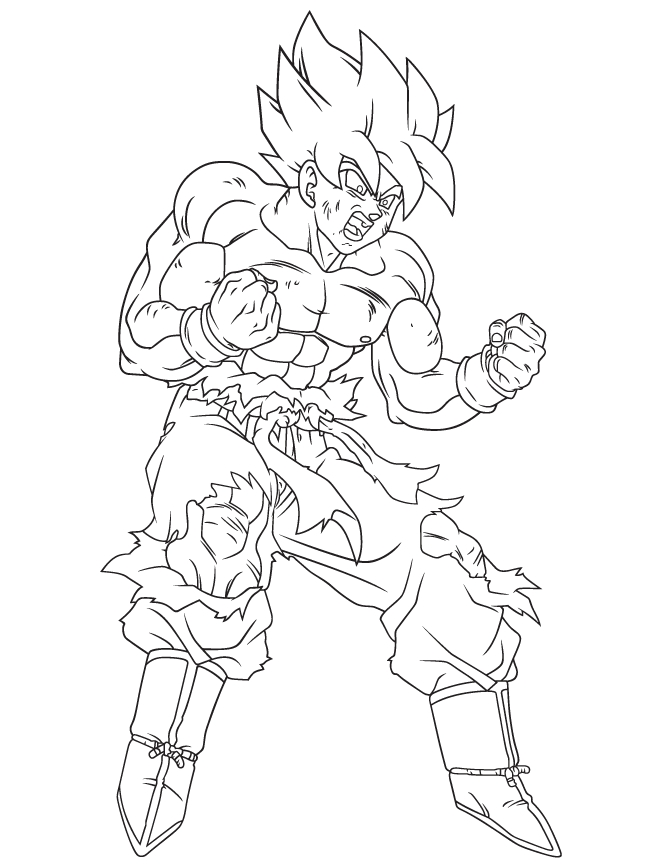 dragon ball super coloring pages - coloriage de dragon ball z sangoku super sayen 6