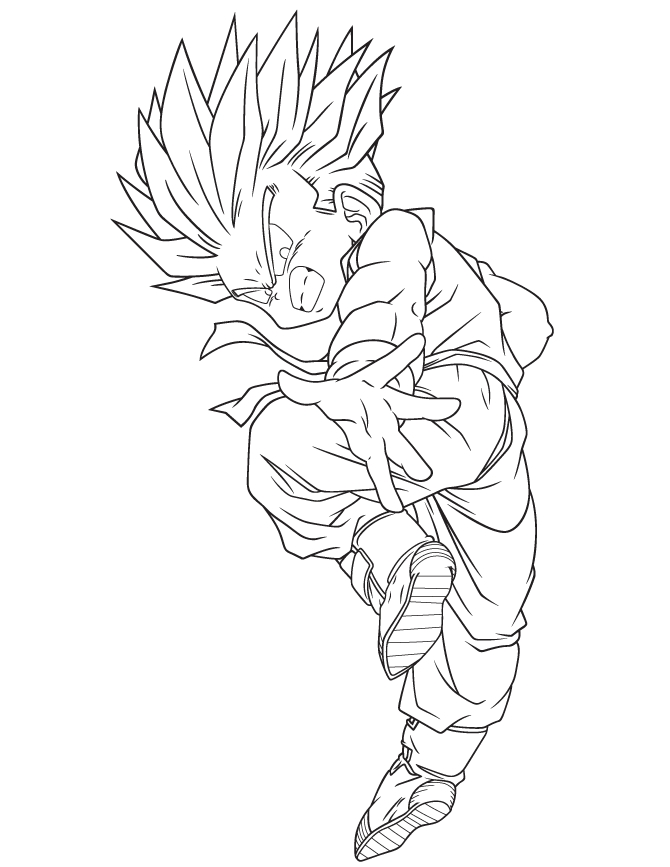 Dragon Ball Super Coloring Pages - Dragon Ball Super Saiyan Coloring Page