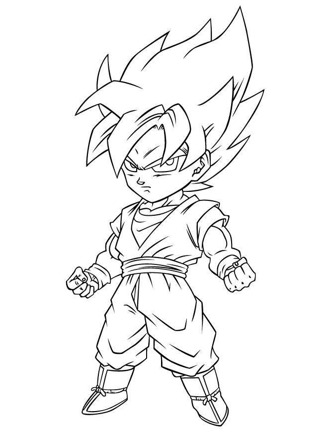 dragon ball super coloring pages - dragon ball z super saiyan free