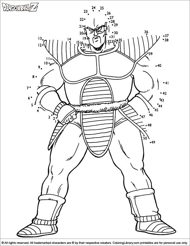 dragon ball z coloring pages - page 605