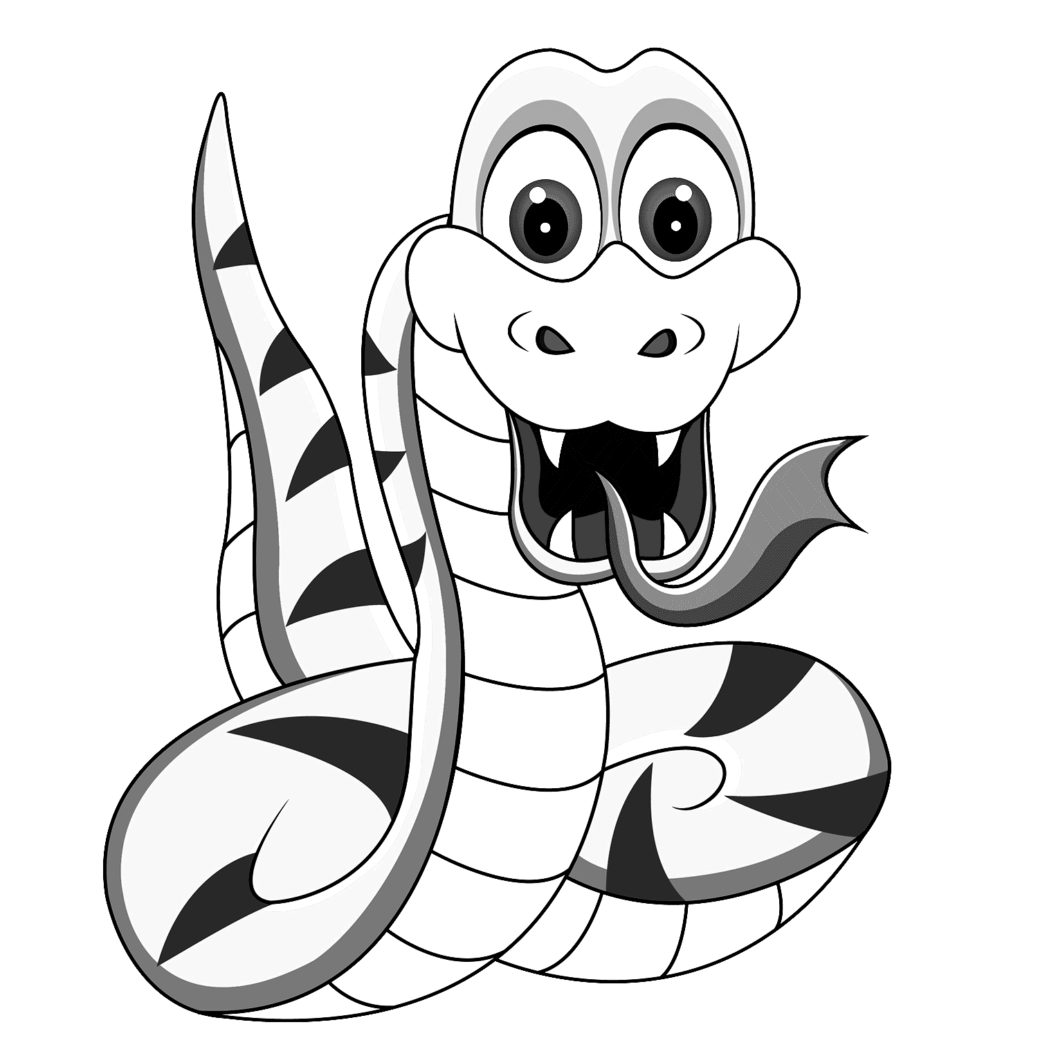 dragon coloring pages - Serpente da colorare per bambini