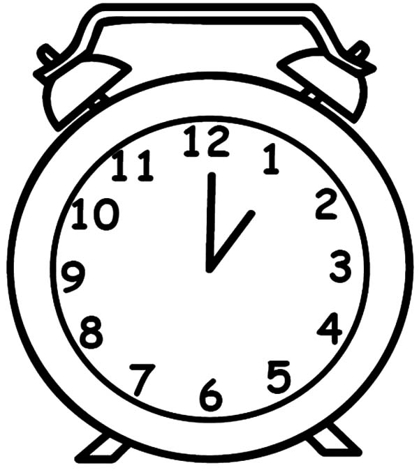 drawing coloring pages - drawing clock coloring pages 2