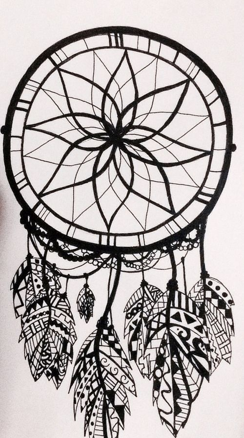 dream catcher coloring pages -