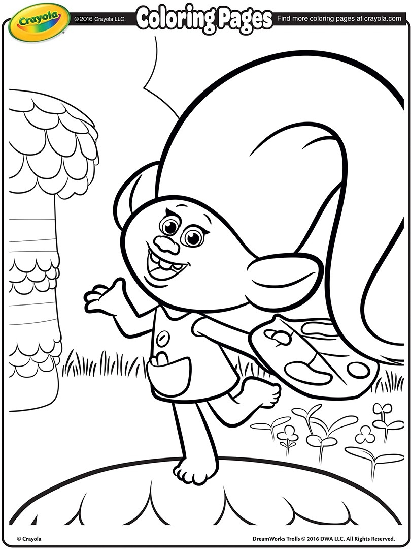 dreamworks trolls coloring pages - 8498
