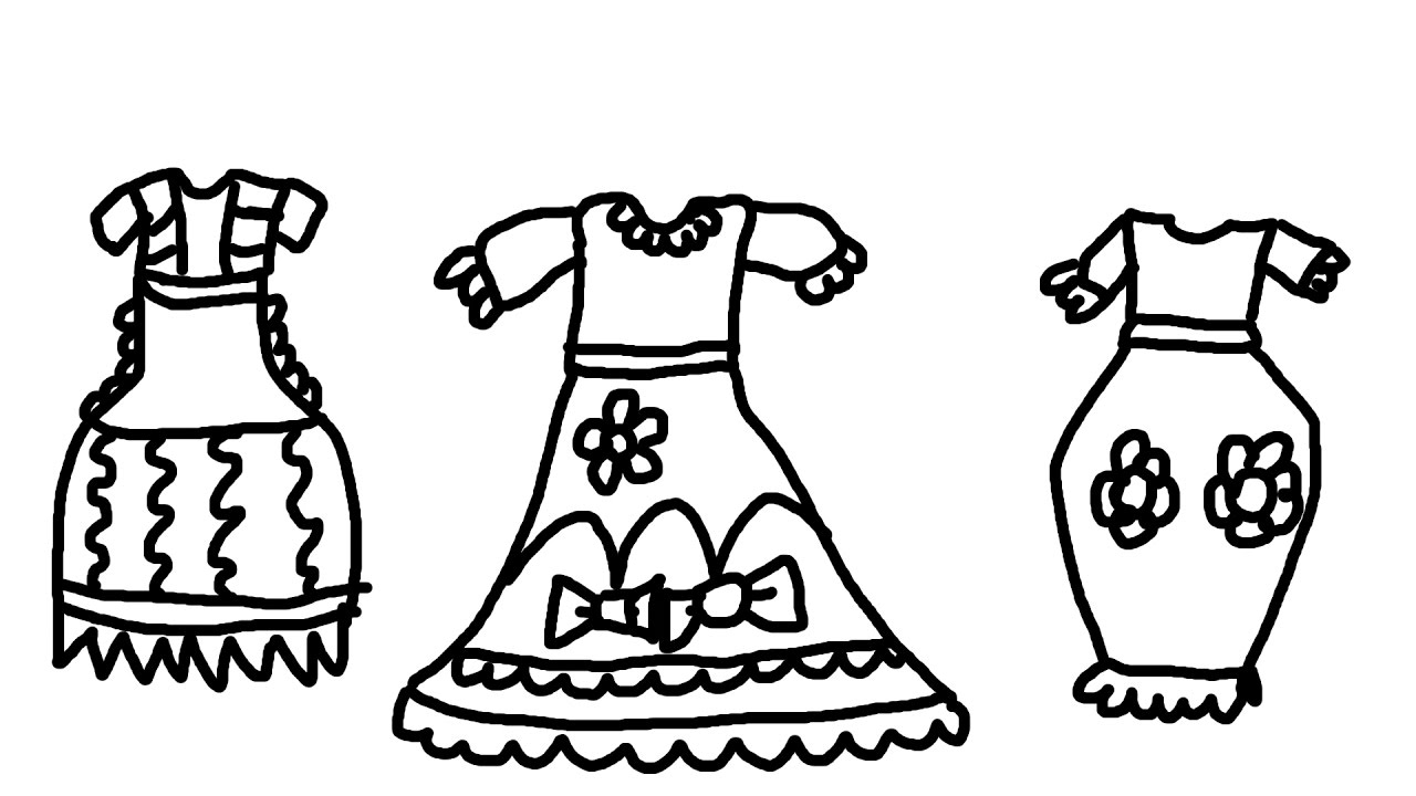 23 Dress Coloring Pages Collections | FREE COLORING PAGES - Part 2