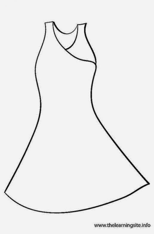 dress coloring pages - beautiful dress coloring pages