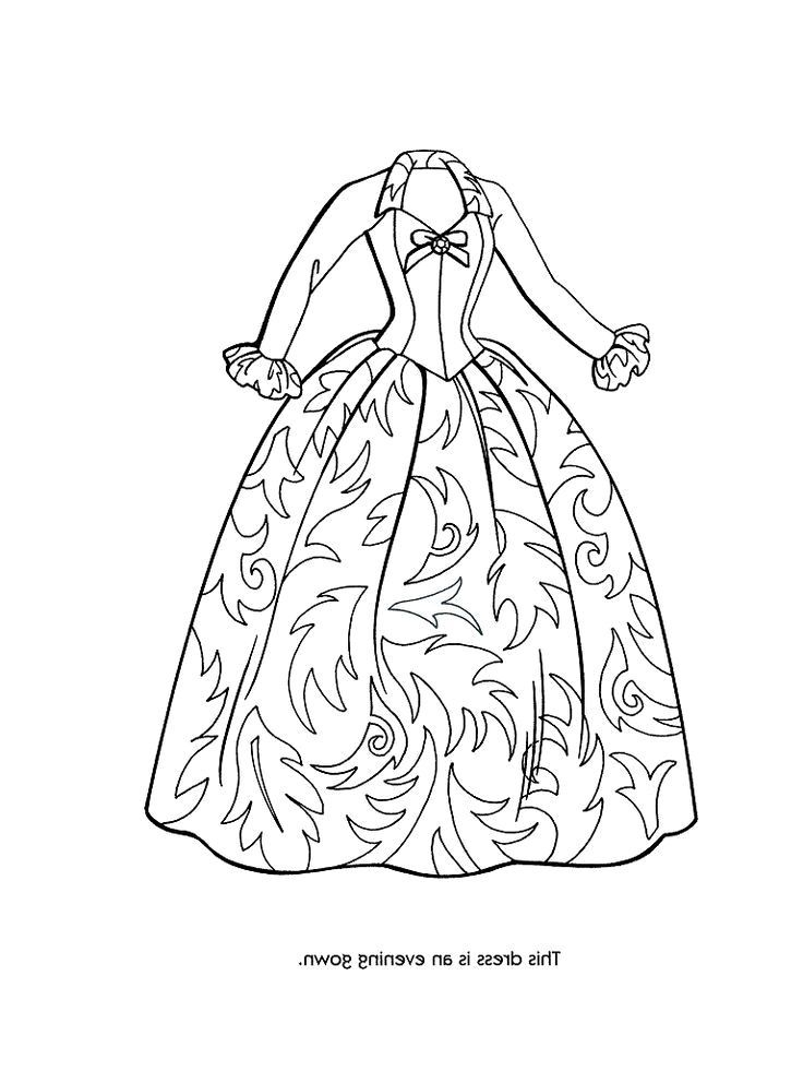 dress coloring pages - coloring pages dress