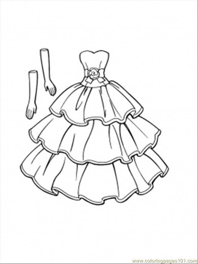 dress coloring pages - This Dress Goes With Gloves