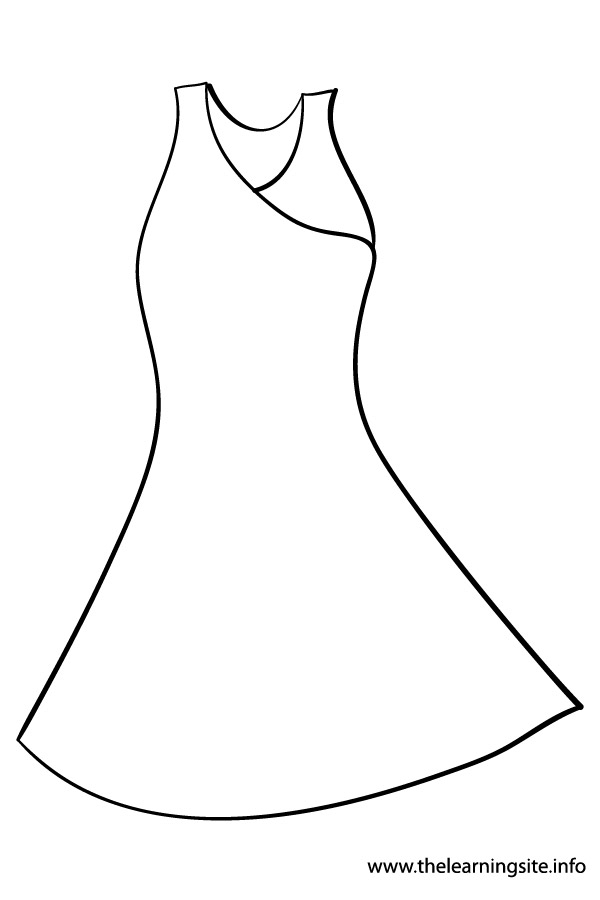dress coloring pages - q=dress clothing