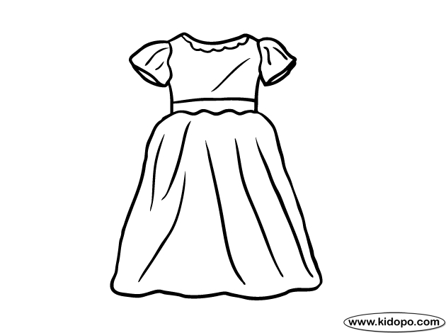23 Dress Coloring Pages Collections | FREE COLORING PAGES - Part 3