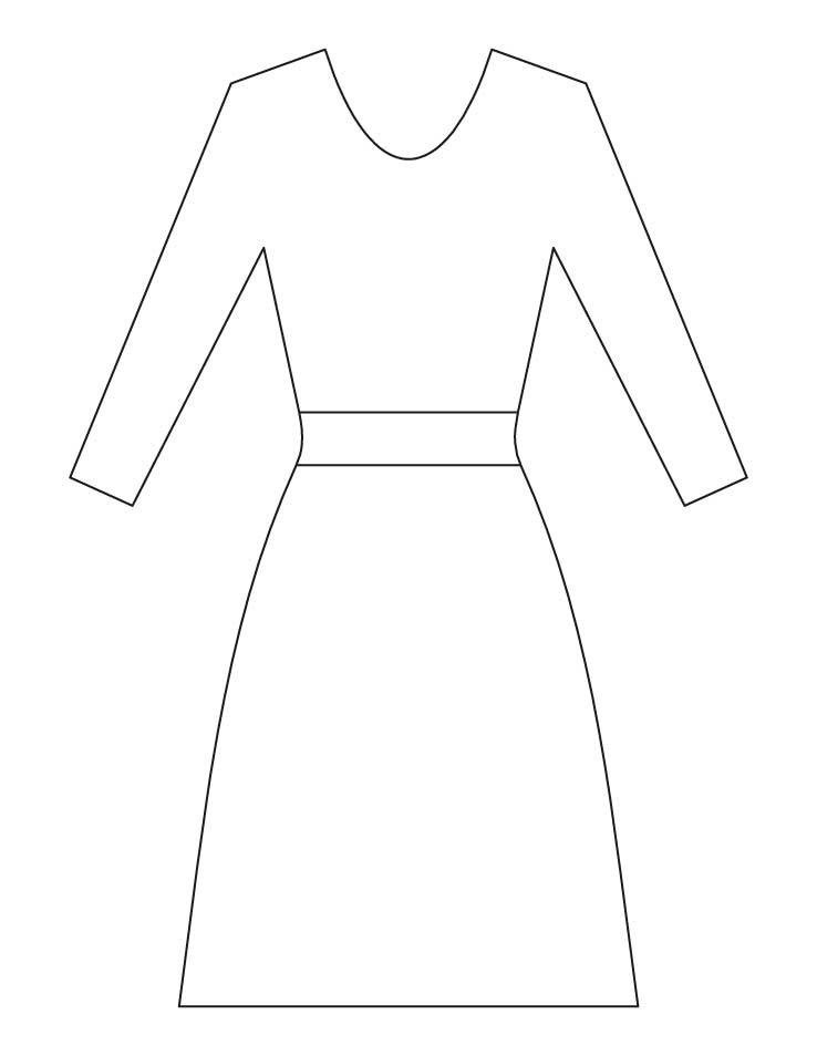 dress coloring pages - la s dress coloring pages 1d3723