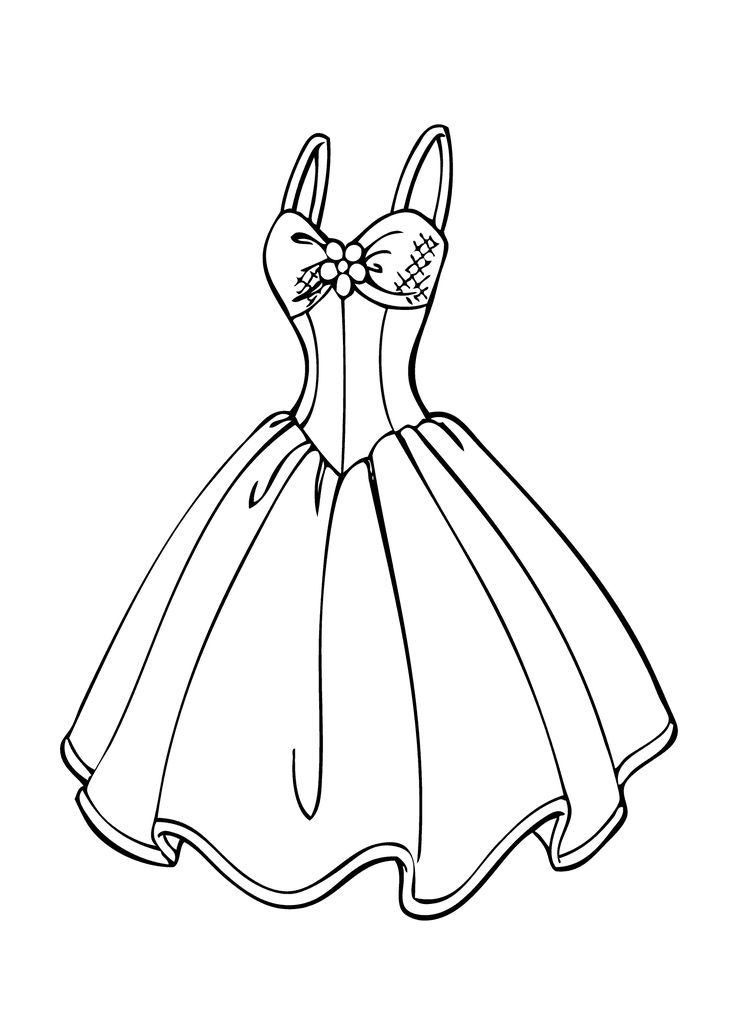 dress coloring pages -