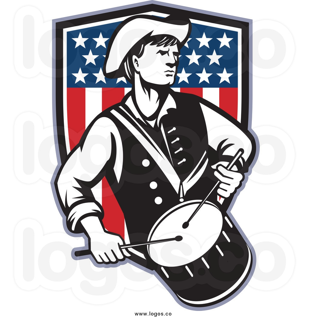 drum coloring page - revolutionary war clip art
