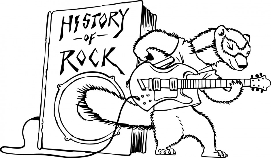 drum coloring page - rock and roll clip art