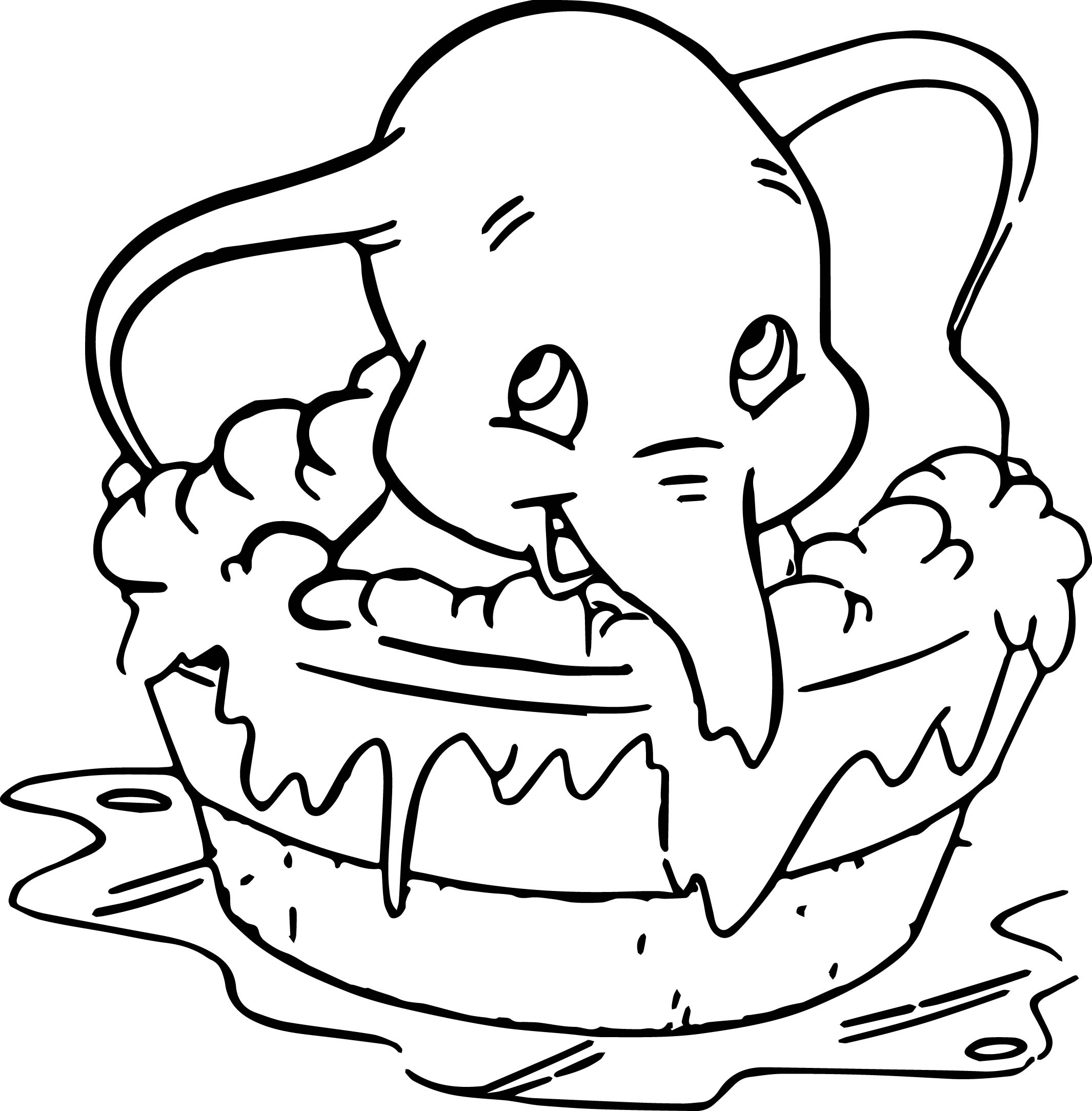 dumbo coloring pages - disney dumbo elephant coloring pages