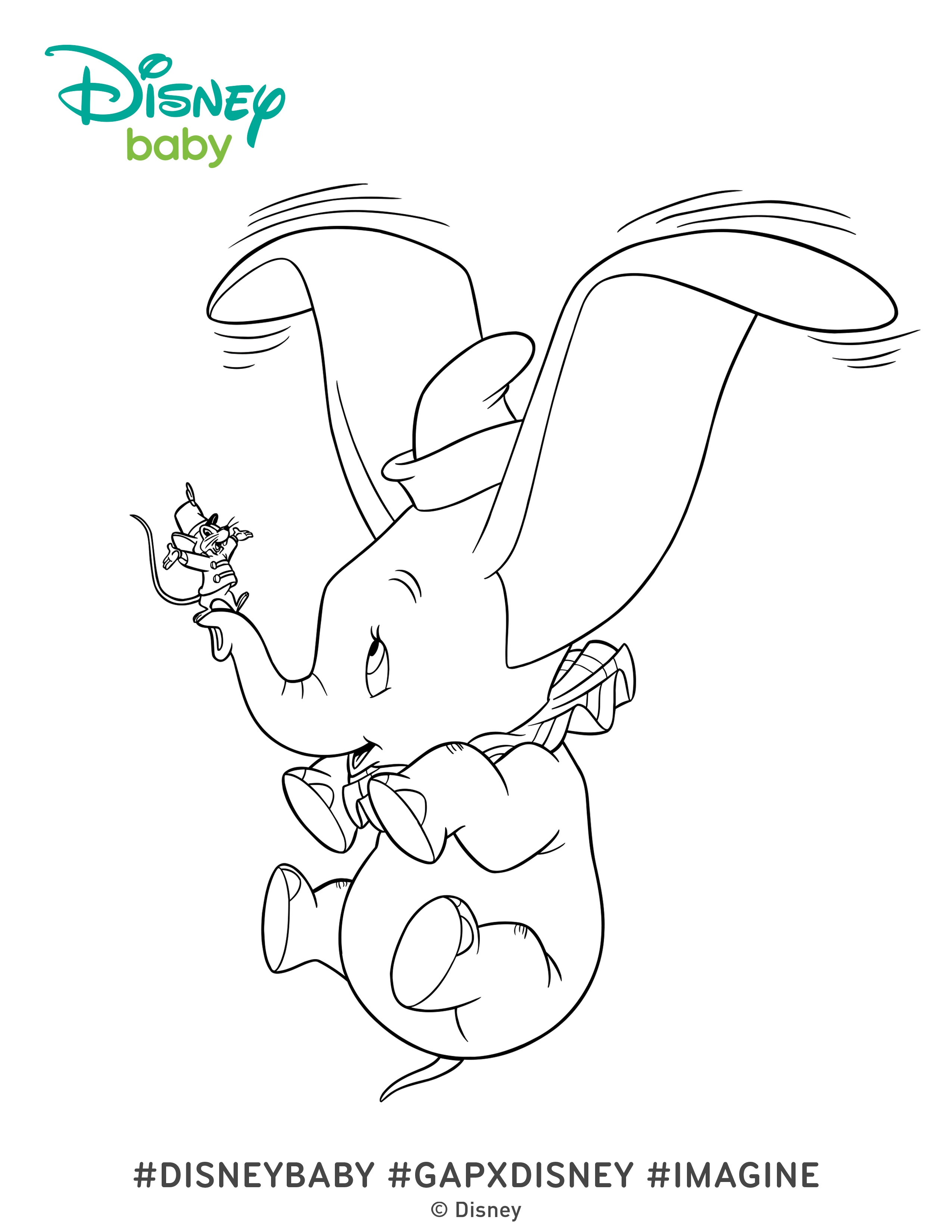 dumbo coloring pages - dumbo coloring pages