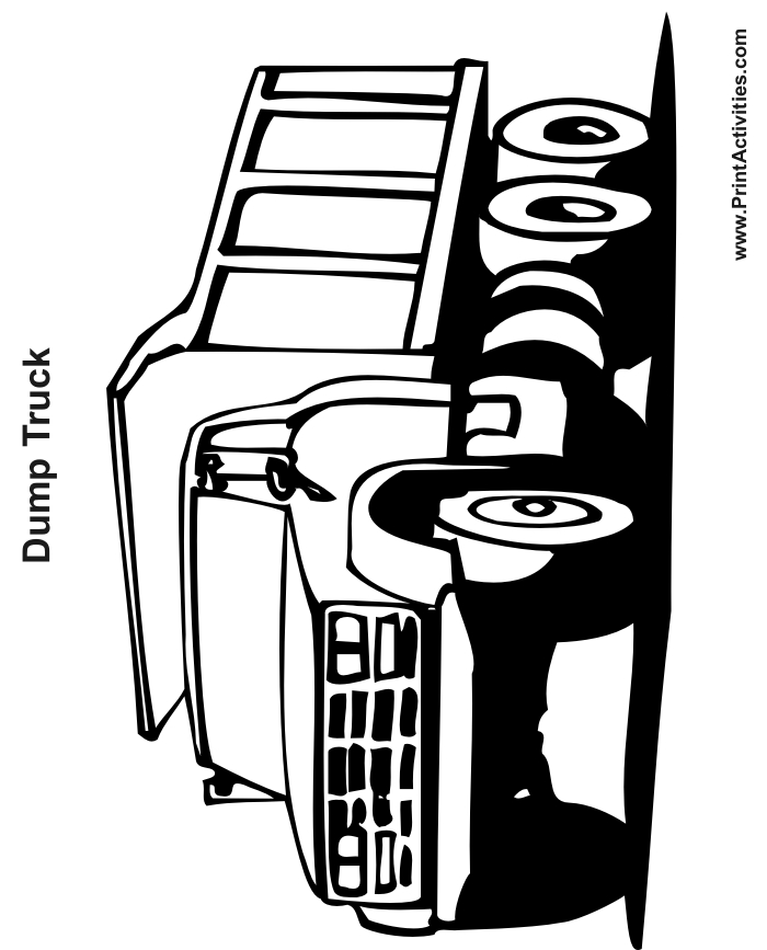 dump truck coloring pages - 4